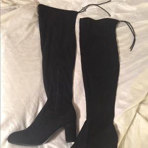 Nature Breeze Over-the-Knee Black Boots Women's 11